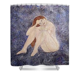 Shower Curtain featuring the painting Pieces Of Me by Desiree Paquette
