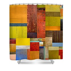 Pieces Project L Shower Curtain