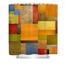 Pieces Project Ll Shower Curtain by Michelle Calkins