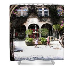 Pied Piper Two Shower Curtain