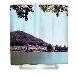 Piediluco And Piediluco Lake Shower Curtain