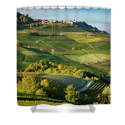Shower Curtain featuring the photograph Piemonte Countryside by Brian Jannsen