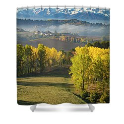 Shower Curtain featuring the photograph Piemonte Morning by Brian Jannsen