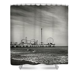 Shower Curtain featuring the photograph Pier 2 by Sebastian Mathews Szewczyk