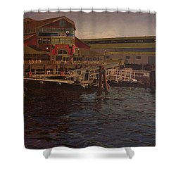 Pier 55 - Red Robin Shower Curtain