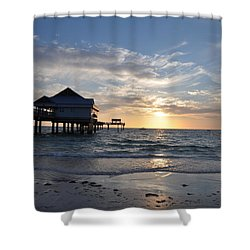 Pier 60 At Clearwater Beach Florida Shower Curtain by Bill Cannon