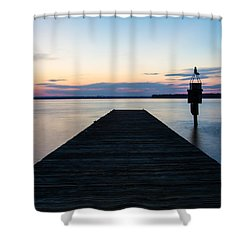 Pier At Sunset 16x20 Shower Curtain