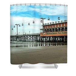 Shower Curtain featuring the photograph Pier Daytona Beach by Carolyn Marshall