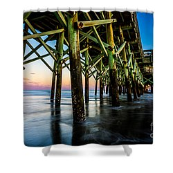 Pier Perspective Shower Curtain by David Smith