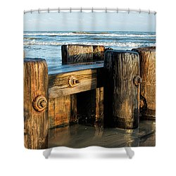 Pier Perspective Shower Curtain