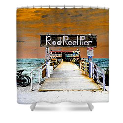 Pier Scape Shower Curtain by David Lee Thompson