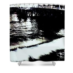 Shower Curtain featuring the photograph Pier by Vanessa Palomino