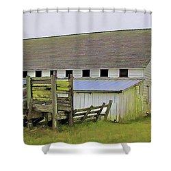 Pierce Pt. Ranch Barn Shower Curtain