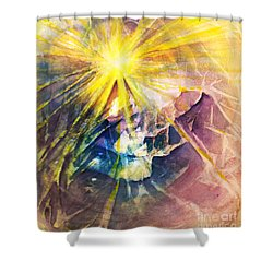 Piercing Light Shower Curtain