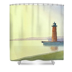 Pierhead Lighthouse, Milwaukee Shower Curtain