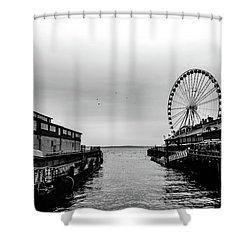 Pierless  Shower Curtain