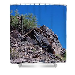 Shower Curtain featuring the photograph Piestewa Peak by Greg Graham