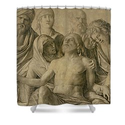 Pieta Shower Curtain by Giovanni Bellini