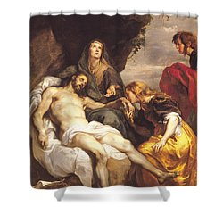 Pieta Shower Curtain by Sir Anthony van Dyck