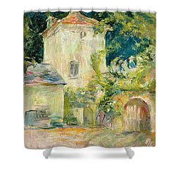 Pigeon Loft At The Chateau Du Mesnil Shower Curtain by Berthe Morisot