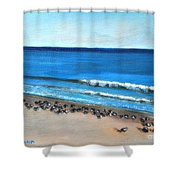 Pigeon Picnic Shower Curtain