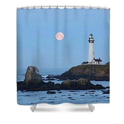Pigeon Point At Moonset Shower Curtain