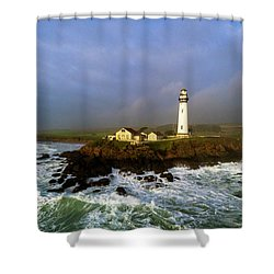 Shower Curtain featuring the photograph Pigeon Point Lighthouse by Evgeny Vasenev