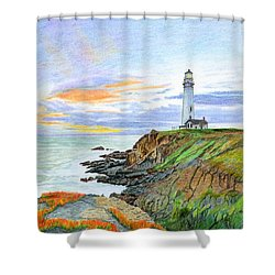 Pigeon Point Sunset Shower Curtain by Mike Robles