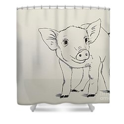 Piglet Shower Curtain