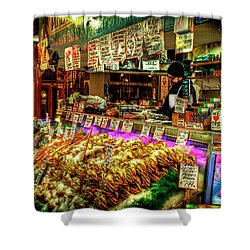 Pike Market Fresh Fish Shower Curtain