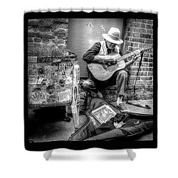 Pike Market Solo Shower Curtain by Greg Sigrist