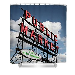 Shower Curtain featuring the photograph Pike Place Market by Ed Clark