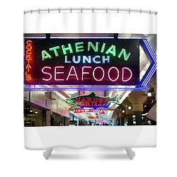 Pike Street Market Neon, Seattle Shower Curtain