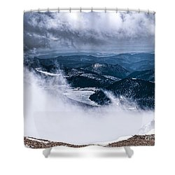 Shower Curtain featuring the photograph Pikes Peak by Anthony Baatz