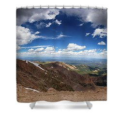 Pikes Peak Storm Shower Curtain