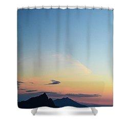 Pilchuck Sunset Shower Curtain