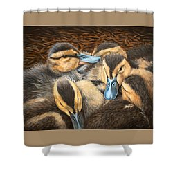 Pile O' Ducklings Shower Curtain