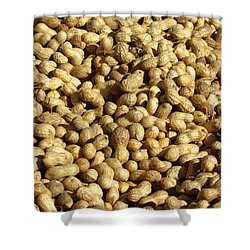 Shower Curtain featuring the photograph Pile Of Peanuts by Bonnie Muir