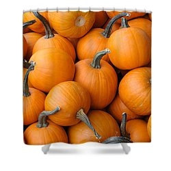 Pile Of Pumkins Shower Curtain