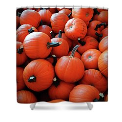 Pile Of Pumpkins Shower Curtain