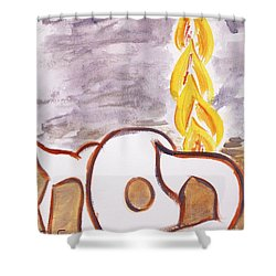 Pillar Of Fire Shower Curtain