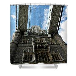 Pillar Of London Bridge Shower Curtain