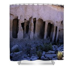 Pillars And Caves, Crowley Lake Shower Curtain