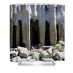Pillars At Crowley Lake Shower Curtain