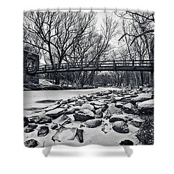 Pillars On The Shore Shower Curtain