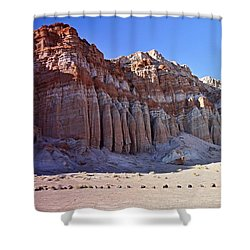 Pillars, Red Rock Canyon State Park Shower Curtain