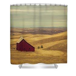 Pillbox Barn Shower Curtain