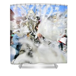 Pillow Fight Shower Curtain
