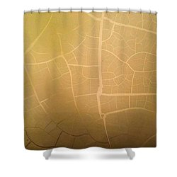 Pillow Pattern Amber Leaf/crackle Shower Curtain