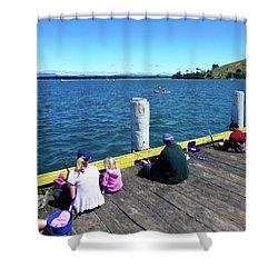 Pilot Bay 1 - Mount Maunganui Tauranga New Zealand Shower Curtain